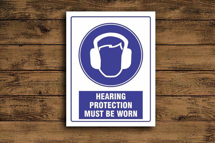 Hearing Protection Mandatory Sign
