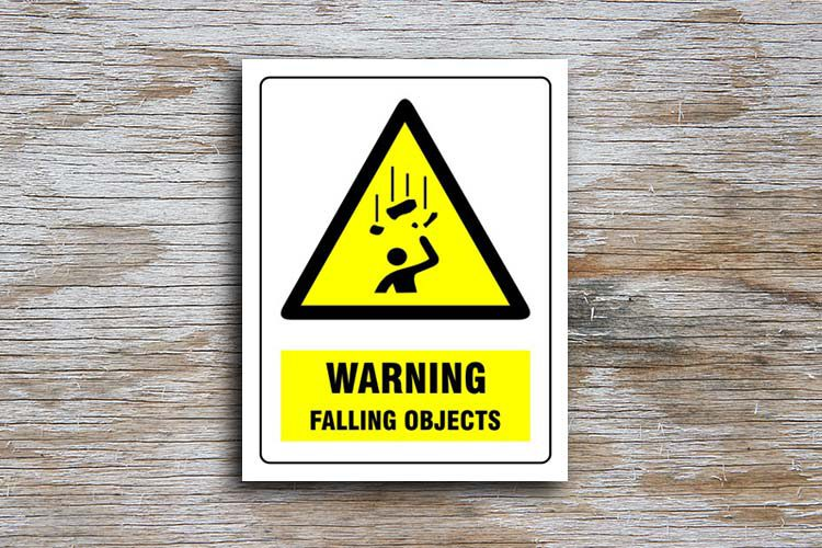 Falling Objects Warning Sign