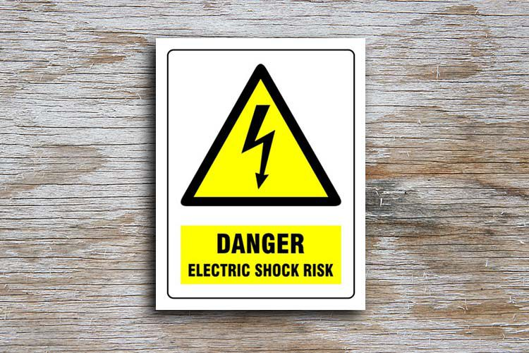 Electric Shock Risk Danger Sign