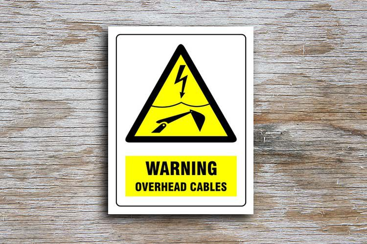 Overhead Cables Warning Sign