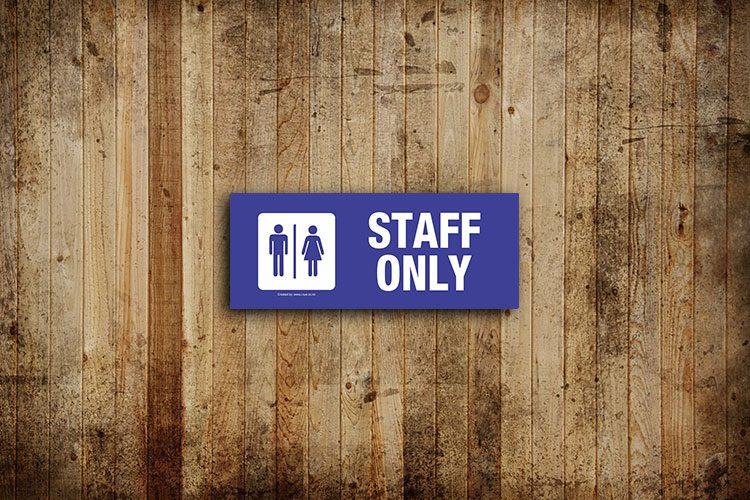 staff toilet sign - landscape