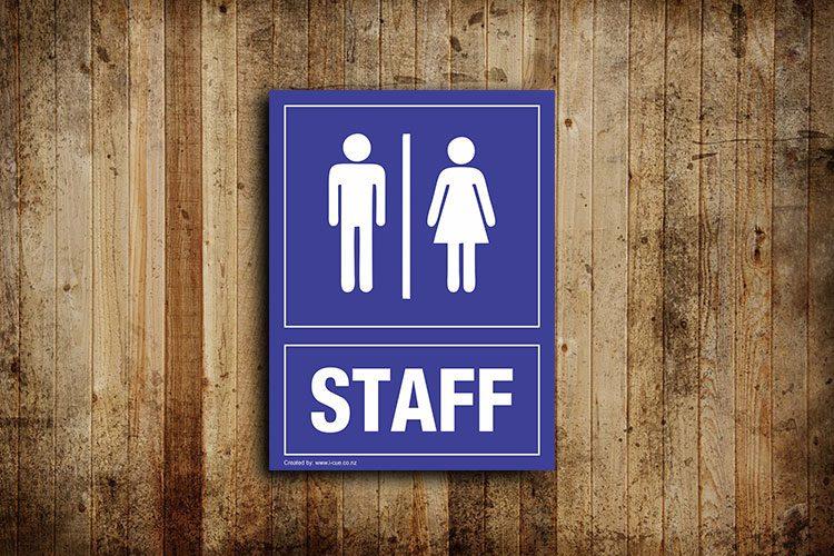 Staff toilet signs - portrait
