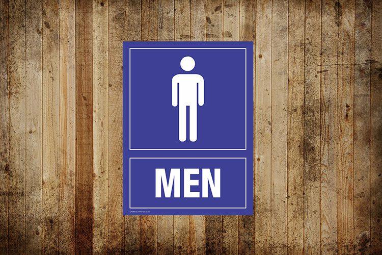 Men Toilet Sign - Portrait