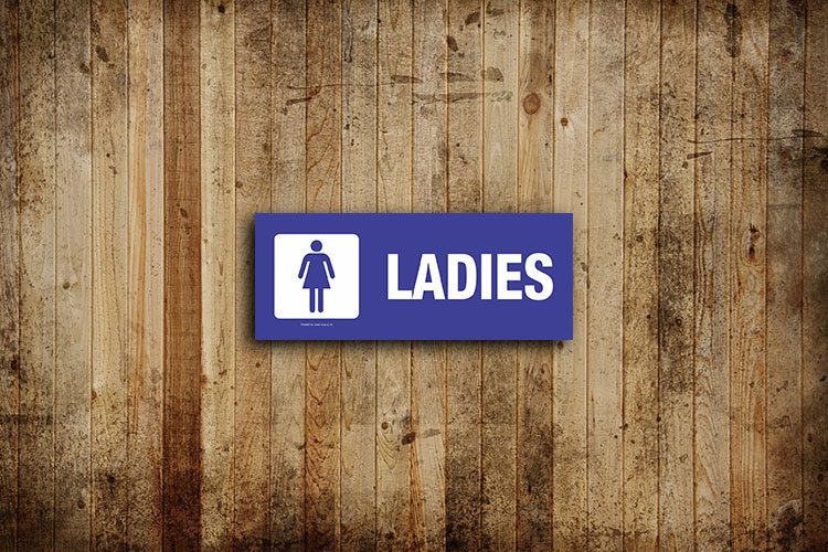 Ladies Toilet Sign - Landscape