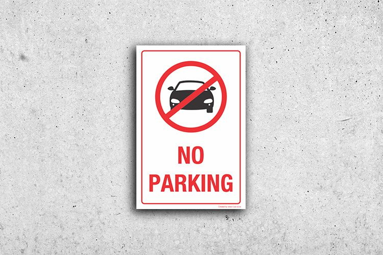 No Car Parking signs
