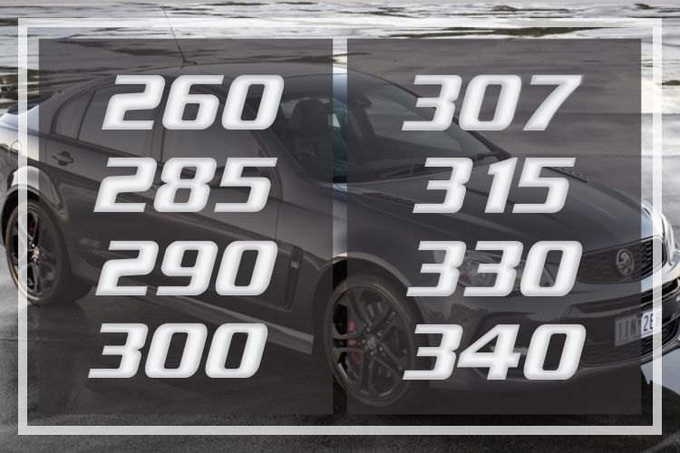 Holden Commodore Clubsport Numbered Decals