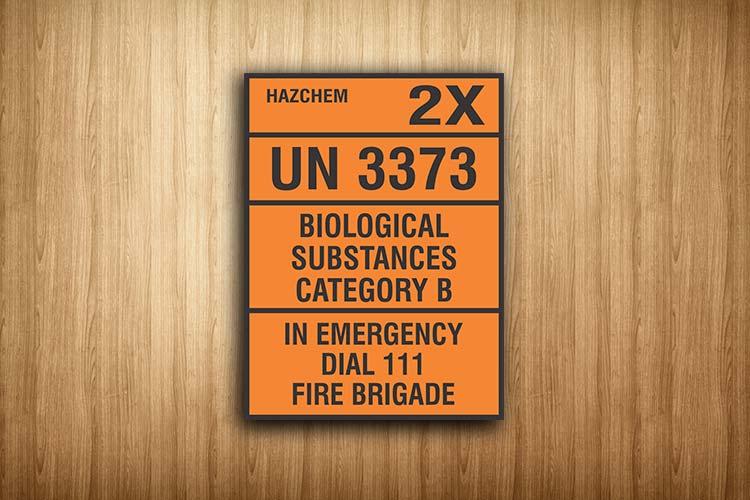 Biological Substances Hazchem Sign