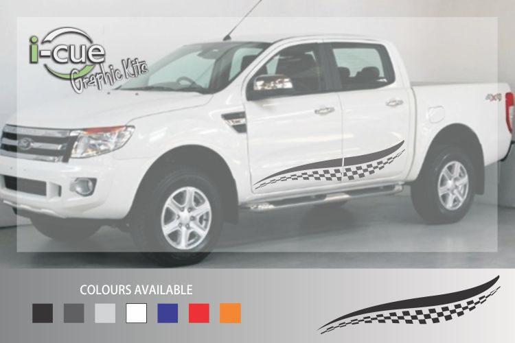 Ford Ranger Checkered Side Stripes