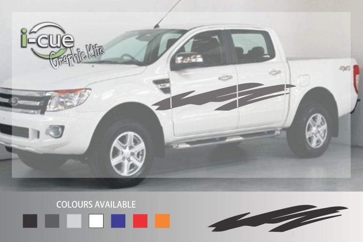 Ford Ranger Waves Side Stripes