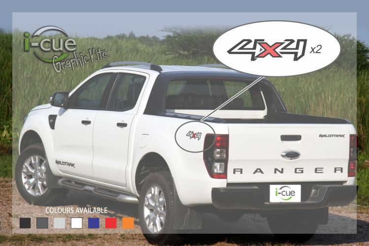Ford Ranger Wildtrak Rear Sides 4x4 decal