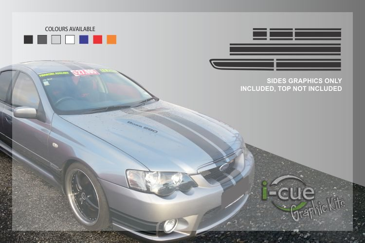 Ford Falcon BA BF Side Stripes Decal