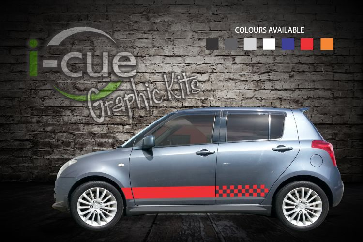 Swift Checkered Side Stripes Decals