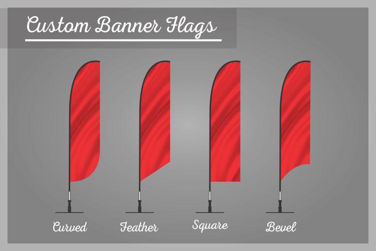 Cuatom Banner flags