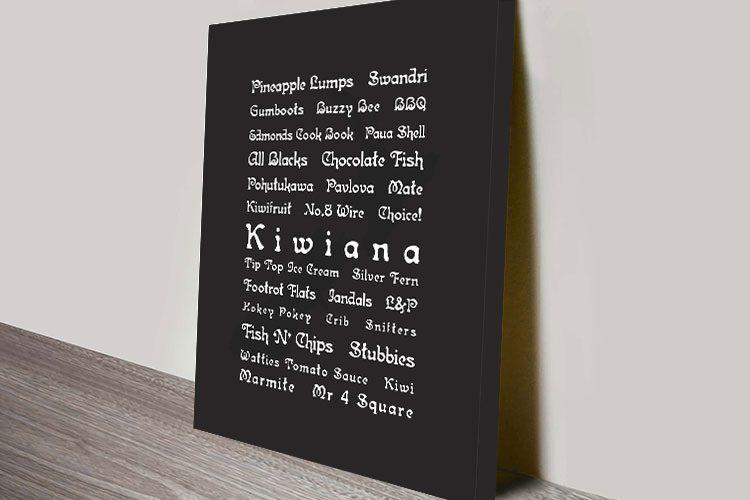 Kiwiana Word Art