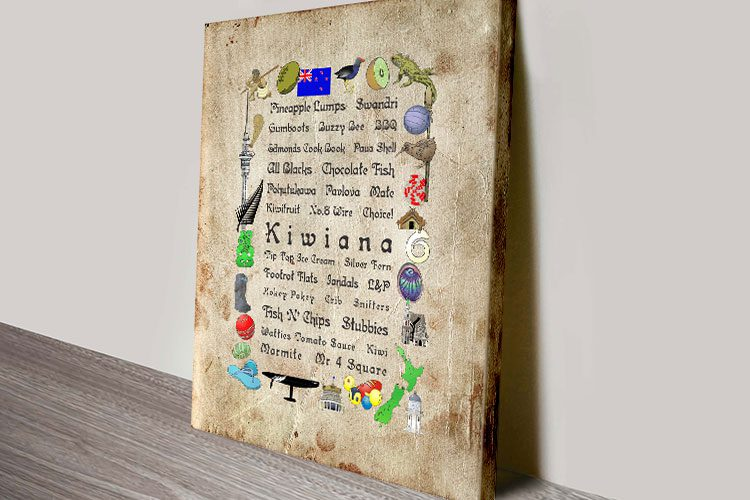 Kiwiana Word Art