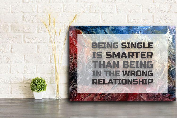 Single Smart Word Art Canvas Print