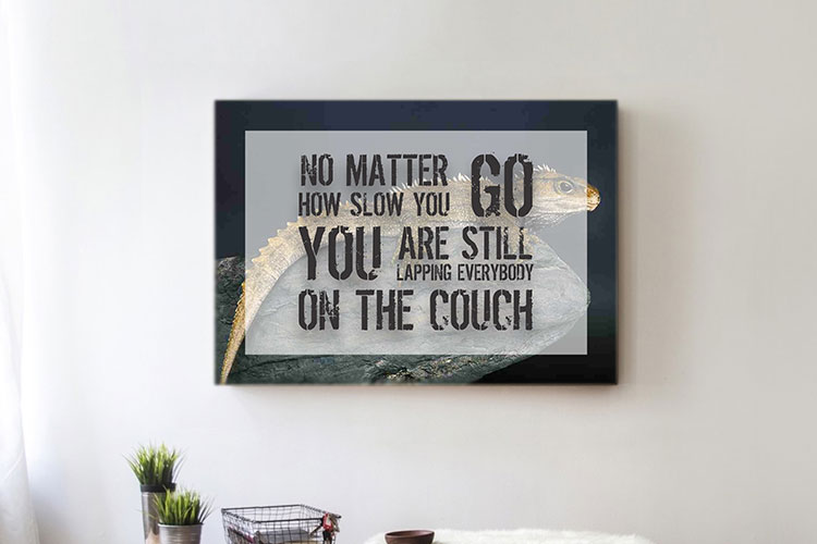 No Matter Word Art Canvas Print