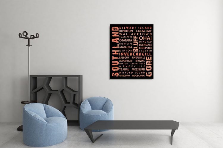 Southland Word Art Canvas Print