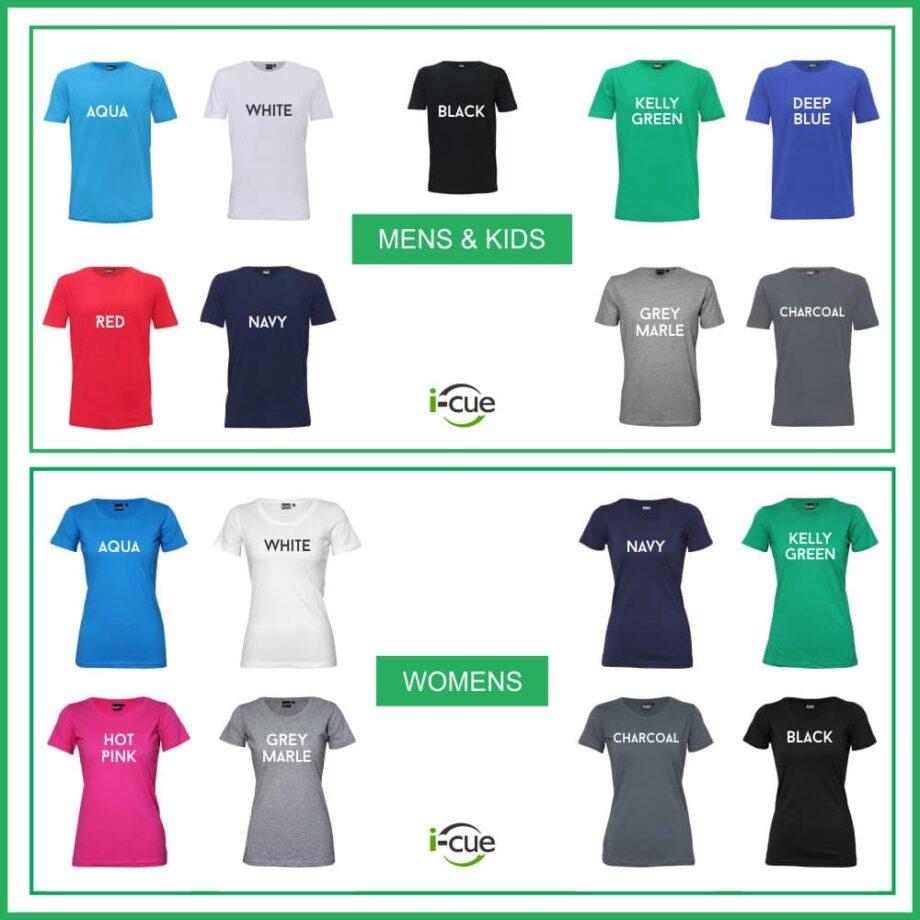 T-Shirt Colours