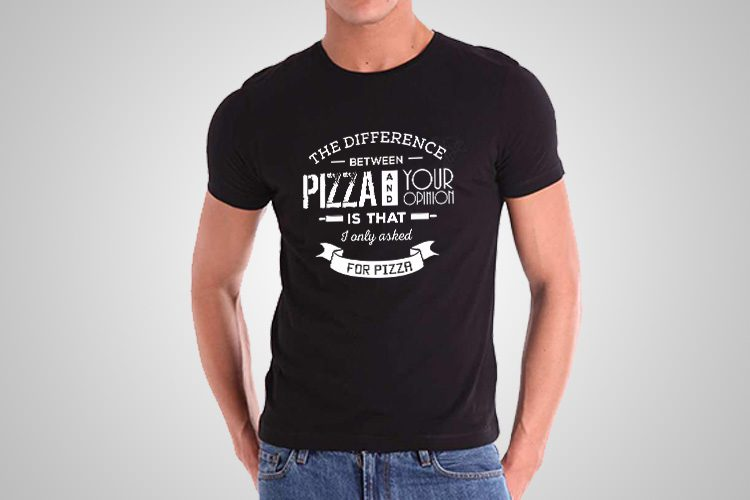 Pizza Opinion Funny Printed T-Shirt