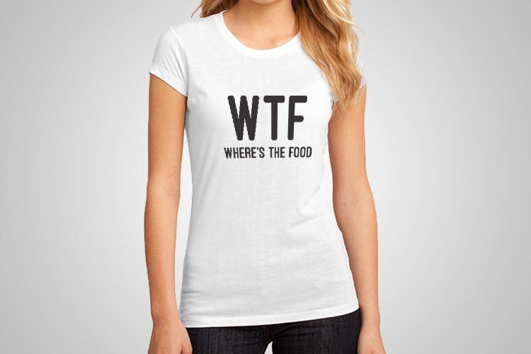 Where's The Food Funny Printed T-Shirt