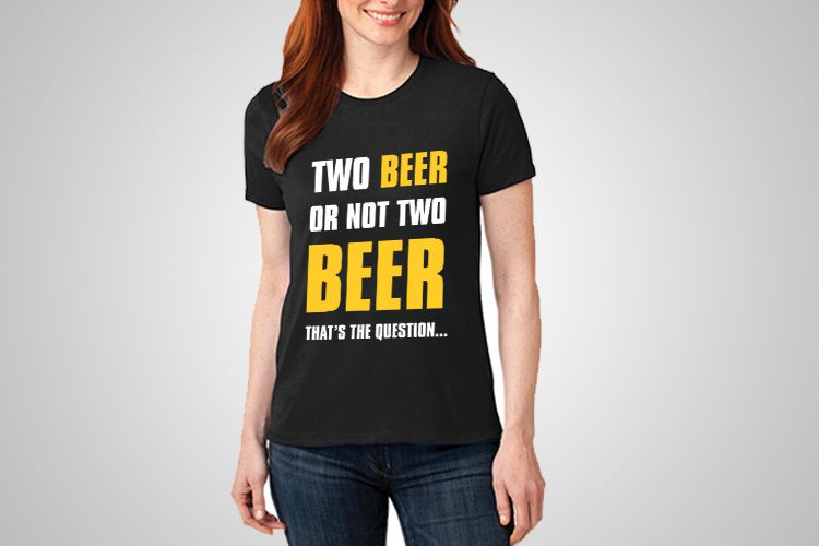 Beer question Funny Printed T-Shirt