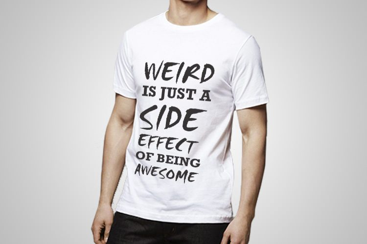 Weird side effect Funny Printed T-Shirt