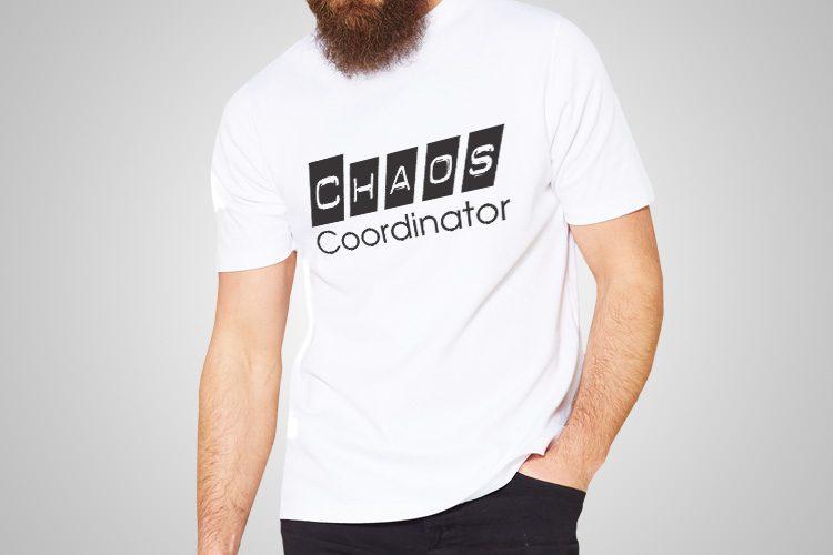 Chaos Coordinator Funny Printed T-Shirt