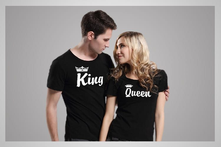 King Queen Couple T-shirts