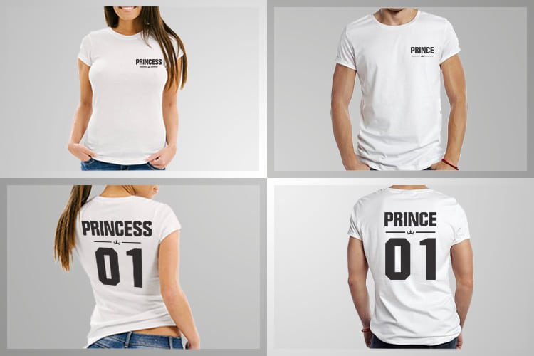Prince Princess 01 Couple T-Shirts