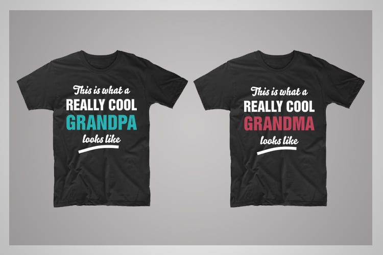 Cool Grandparents Couple T-Shirts