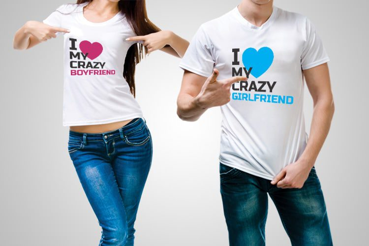 Crazy GF BG Couple T-Shirts