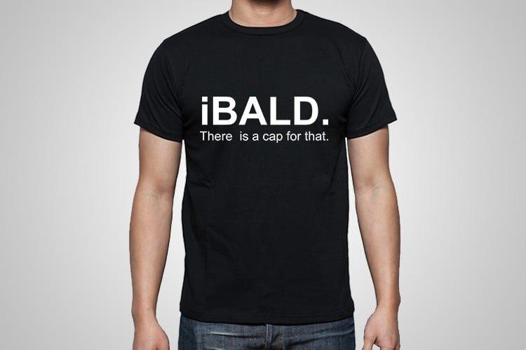 iBald Printed T-Shirt