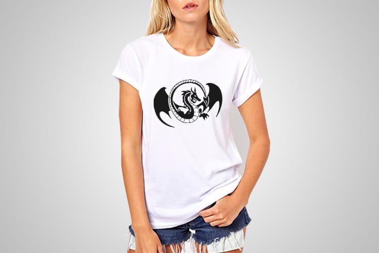 Dragon Wings Printed T-Shirt