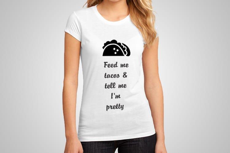 Feed Me Tacos Printed T-Shirt