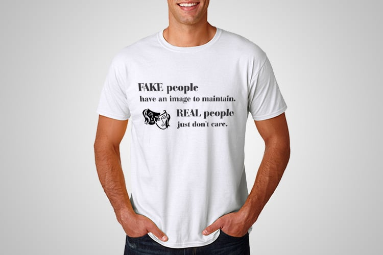 Fake People Printed T-Shirt