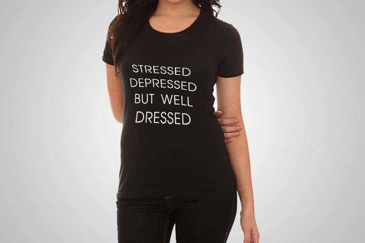 Stressed Printed T-Shirt
