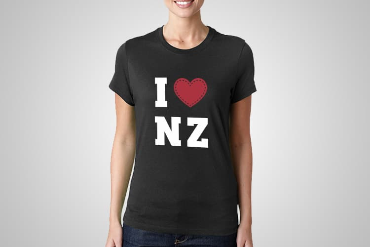 I Love NZ Printed T-Shirt