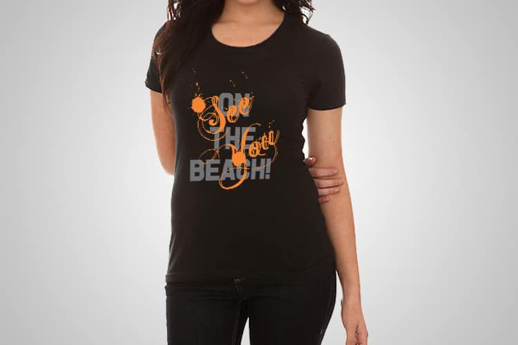 See You On The Beach Printed T-Shirt