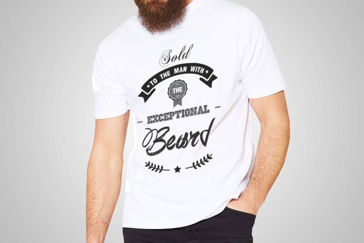 Exceptional Beard Printed T-Shirt