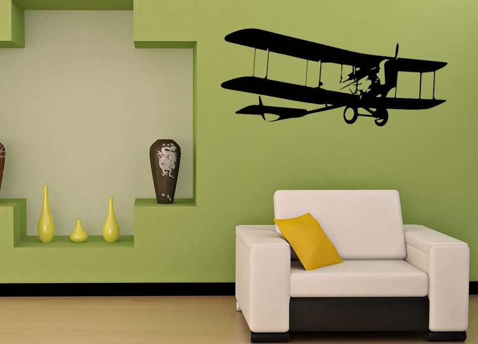 Old Airplane Wall Decal