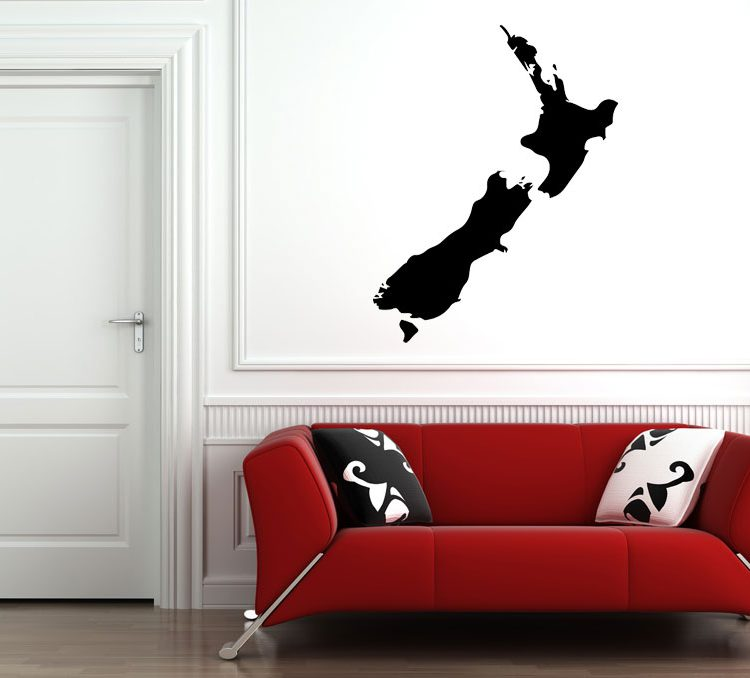 Map NZ Wall Decal