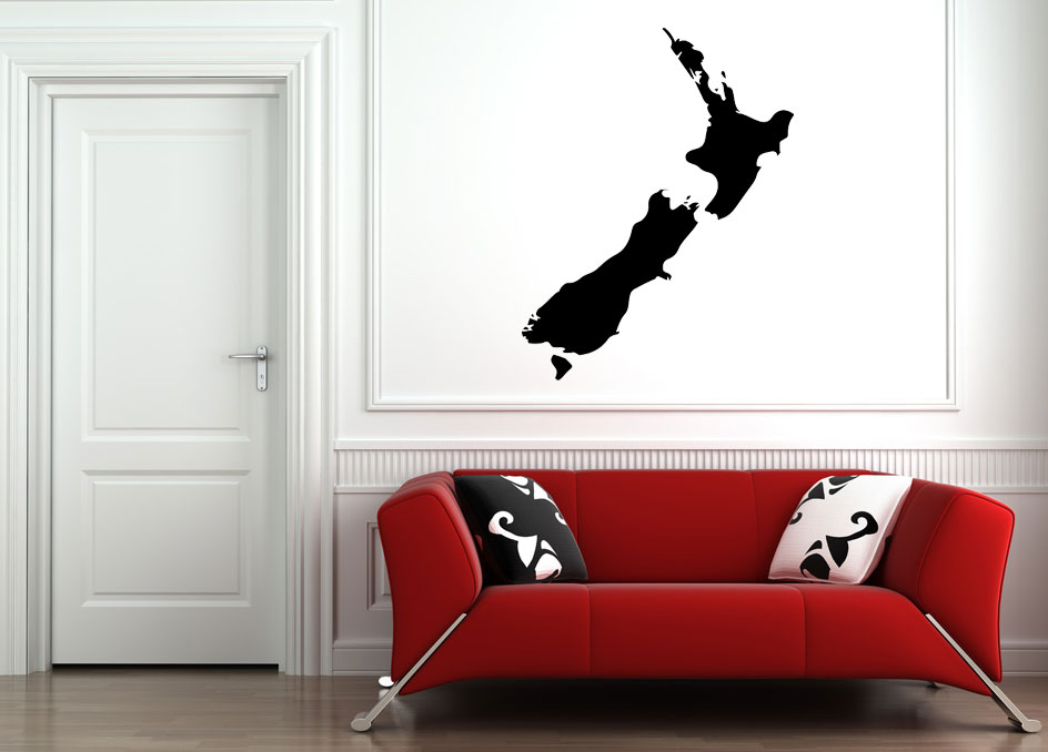 map nz wall decal | wall stickers | wall graphics | i-cue