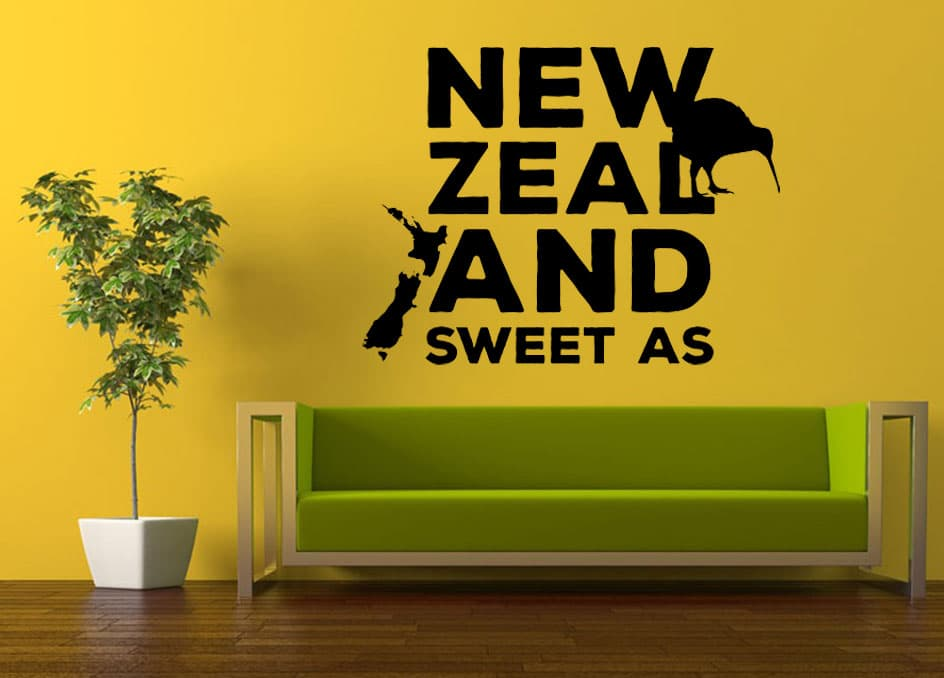 nz sweet as wall decal | wall stickers | wall graphics | i-cue