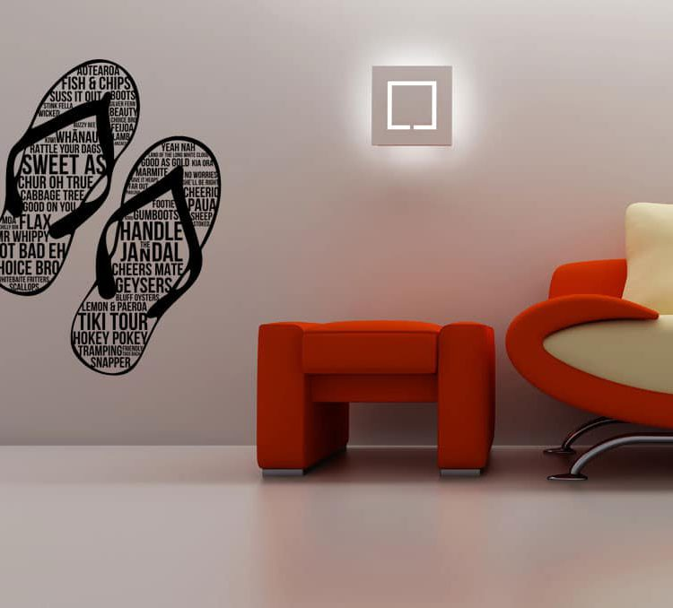 Jandals Wall Decal