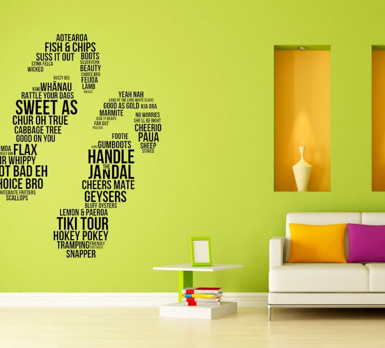 jandals wordart Wall decal