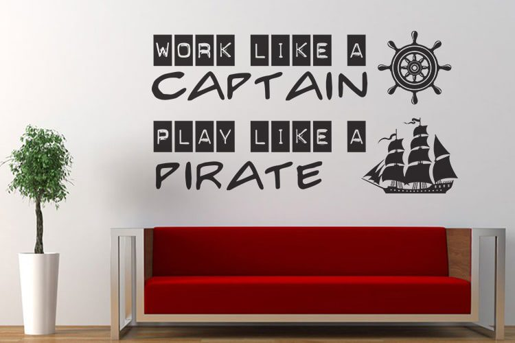 Captain Pirate Wall Decal