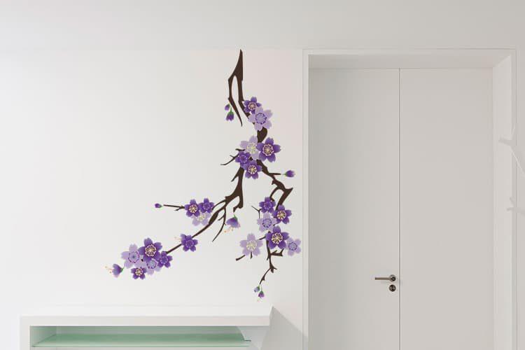 Purple Flowers Wall Decal