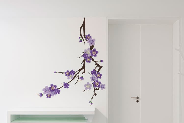 Purple Flowers Wall Decal