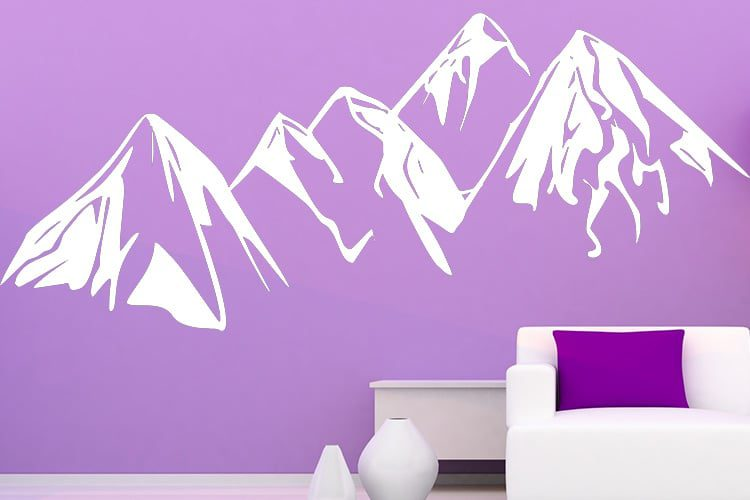 Snow Hills Wall Decal